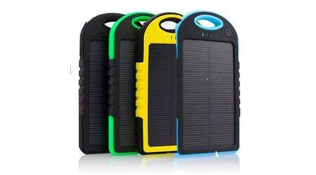 Power bank Solar 5000 mAh на солнечной батарее