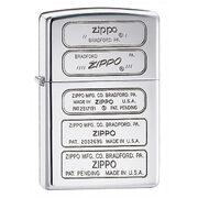 Зажигалка Zippo 28381 Zippo Bottom Timeline Stamp High Polish Chrome (зеркальный хром, гравировки днищ зажигалок)