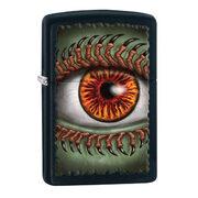 Зажигалка Zippo 28668 Monster Eye with Claws Black Matte (черная матовая, рисунок глаза монстра с когтями на ресницах)