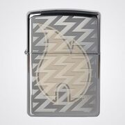 Зажигалка Zippo 28811 Z Tread Flame High Polish Chrome (зеркальный хром, гравировка пламени Зиппо и волн)