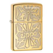 Бензиновая зажигалка Zippo 28450 Ornament High Polish Brass