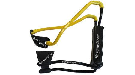 Рогатка Man-Kung MK-T1 (черная рукоять, желтая тетива, кистевой упор)