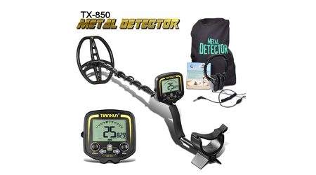 Металлоискатель для поиска золота и монет TX-850 (копия Fisher Gold Bug) с наушниками