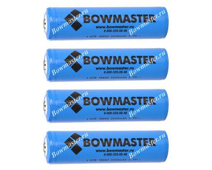 Литий-ионный аккумулятор с защитой BowMaster 18650 2200 mAh (4 шт.)