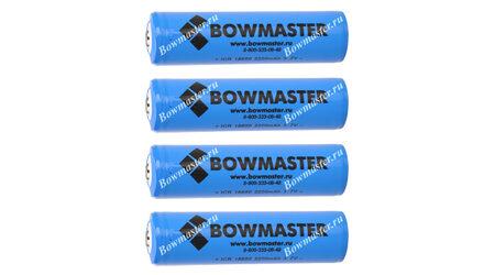 купите Литий-ионный аккумулятор с защитой BowMaster 18650 2400 mAh (4 шт.) в Москве
