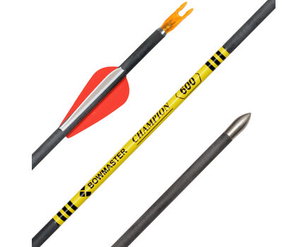 Купите карбоновые стрелы для лука Bowmaster Champion спортивные, оперение  1,75'' Streamline в интернет-магазине