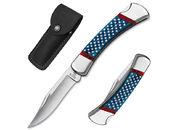 Нож складной Buck 110 Stars & Stripes Folding Hunter Limited Edition / 0110BLSUSA