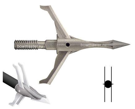 Купите охотничий наконечник CarbonExpress F-15 Expandable Dual Blade раскрывающийся (100 гран, 5 лезвий) в интернет-магазине