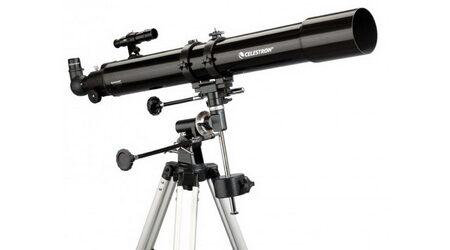 купите Телескоп Celestron PowerSeeker 80 EQ (рефрактор, 80мм, F=900мм, 1:11) на экваториальной монтировке в Москве