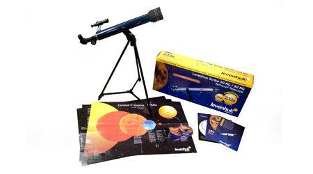 купите Детский телескоп Levenhuk Strike 50 NG (рефрактор, 50мм, F=600мм, 1:12) на азимутальной монтировке в Москве