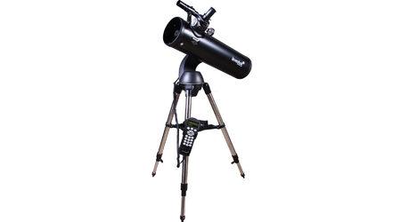 купите Зеркальный самонаводящийся телескоп Levenhuk SkyMatic 135 GTA (рефлектор Ньютона, 130мм, F=650мм, 1:5) на азимутальной монтировке в Москве