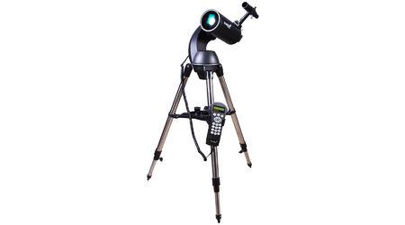 купите Зеркально-линзовый телескоп с автонаведением Levenhuk SkyMatic 105 GT MAK (рефлектор Максутова-Кассегрена, 105мм, F=1300мм, 1:12.7) на азимутальной монтировке в Москве