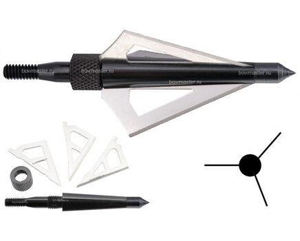 Купите охотничий наконечник Man-kung MK-3BAL (100 гран, 3 лезвия) в интернет-магазине