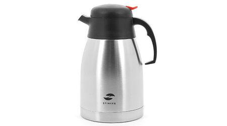 купите Термо-кофейник серебристый c чёрными вставками 1,5 л Stinger HY-CP301-1 в Москве