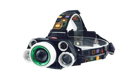 купите Светодиодный налобный фонарь UltraFire HL-8220-5 (Cree XML T6 + 4 XPE) 2300 люмен в Москве