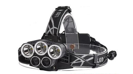 купите Светодиодный налобный фонарь Boruit P-K65L (Cree XML T6 + 2 Q5) 2200 люмен в Москве