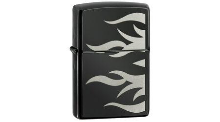 купите Зажигалка Zippo 24951 Ebony Tattoo Flame (черный глянец с металлическими языками пламени) в Москве