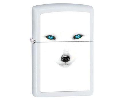 Купите зажигалку Zippo 28272 BS Artic Fox White Matte (белая матовая, фото песца с голубыми глазами) в интернет-магазине