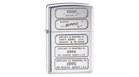 купите Зажигалка Zippo 28381 Zippo Bottom Timeline Stamp High Polish Chrome (зеркальный хром, гравировки днищ зажигалок) в Москве