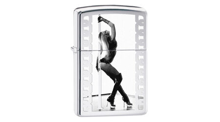 купите Зажигалка Zippo 28448 Stripper Pole High Polish Chrome (зеркальный хром, фото девушки у стрип-шеста) в Москве