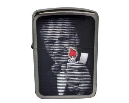 Купите зажигалку Zippo 28452 Replica 1941 Mr. Blaisdell Zippo Founder Black Ice (тонированный цирконием шлифованный хром, фото основателя Зиппо) в интернет-магазине