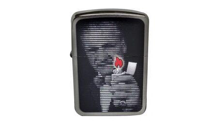 купите Зажигалка Zippo 28452 Replica 1941 Mr. Blaisdell Zippo Founder Black Ice (тонированный цирконием шлифованный хром, фото основателя Зиппо) в Москве