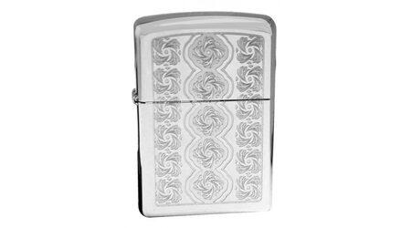 купите Зажигалка Zippo 28657 Elegant Swirls High Polish Chrome (зеркальный хром, оксидированный орнамент) в Москве