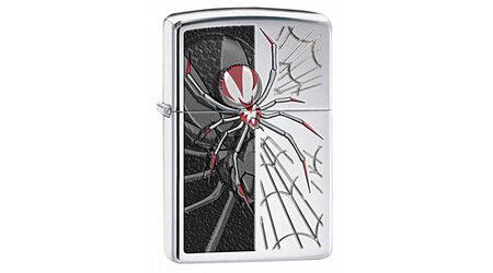 купите Зажигалка Zippo 28795 Spider and Web High Polish Chrome (зеркальный хром, гравировка паука на паутине, цветная заливка) в Москве