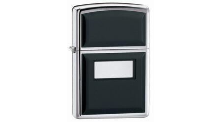купите Зажигалка Zippo 355 Ultralite Black High Polish Chrome (зеркальный хром, накладки из черного пластика) в Москве