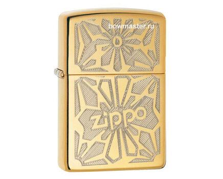 Купите бензиновую зажигалку Zippo 28450 Ornament High Polish Brass в интернет-магазине