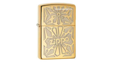 купите Бензиновая зажигалка Zippo 28450 Ornament High Polish Brass в Москве
