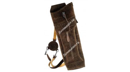 купите Колчан для стрел заплечный темно-коричневый Deluxe в Москве