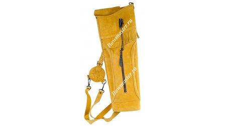 купите Колчан для стрел заплечный желто-коричневый Deluxe в Москве