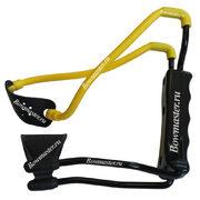 Рогатка для детей Man-Kung MK-T1 (черная рукоять, желтая тетива, кистевой упор)