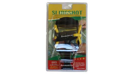 купите Рогатка Man Kung MK-T11 увеличенная (черная рукоять, желтая тетива, кистевой упор) в Москве