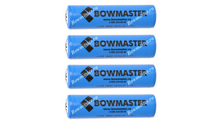 Литий-ионный аккумулятор с защитой BowMaster 18650 2400 mAh (4 шт.)