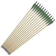 Стрела для лука деревянная 8 мм с натуральным оперением 4 дюйма
