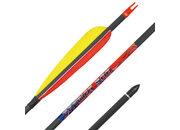 Карбоновая стрела для лука Bowmaster Patriot 500 с натуральным оперением 5 дюймов