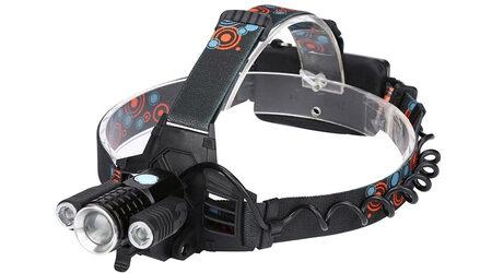 Светодиодный налобный фонарь UltraFire W-603 (Cree XML T6 + 2 Q5) 3500 люмен