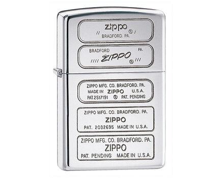 Купите зажигалку Zippo 28381 Zippo Bottom Timeline Stamp High Polish Chrome (зеркальный хром, гравировки днищ зажигалок) в интернет-магазине