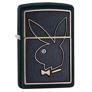 Зажигалка Zippo 28816 Playboy Swarovski Black Matte (черная матовая, эмблема Плейбой, камешек Сваровски)